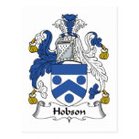 Escudo de la familia de Hobson Postal