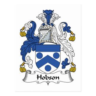 Escudo de la familia de Hobson Postales