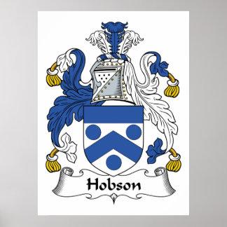 Escudo de la familia de Hobson Póster
