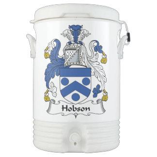 Escudo de la familia de Hobson Refrigerador De Bebida Igloo
