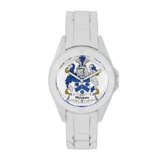 Escudo de la familia de Hobson Relojes De Pulsera