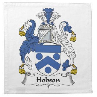 Escudo de la familia de Hobson Servilleta Imprimida