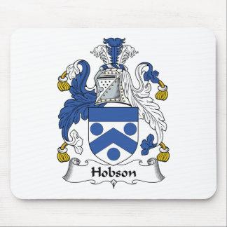 Escudo de la familia de Hobson Tapetes De Raton