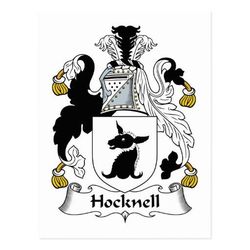 Escudo de la familia de Hocknell Postal