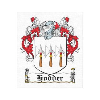 Escudo de la familia de Hodder Impresión En Lona Estirada