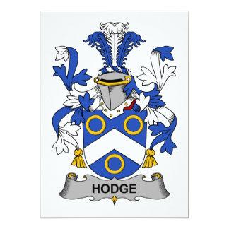 Escudo de la familia de Hodge Invitación 12,7 X 17,8 Cm