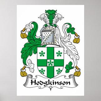 Escudo de la familia de Hodgkinson Póster