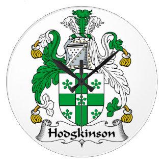 Escudo de la familia de Hodgkinson Reloj Redondo Grande