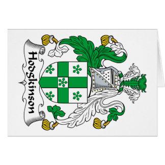 Escudo de la familia de Hodgkinson Tarjeta De Felicitación