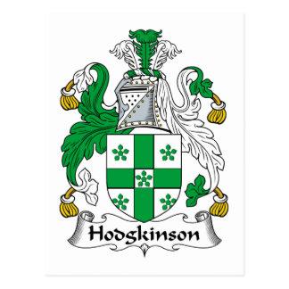 Escudo de la familia de Hodgkinson Tarjetas Postales