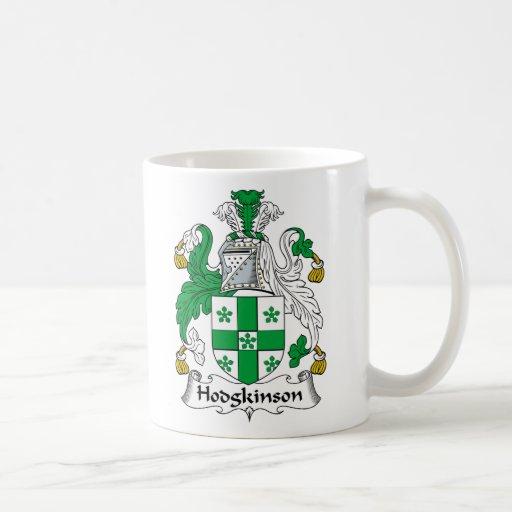 Escudo de la familia de Hodgkinson Taza Básica Blanca