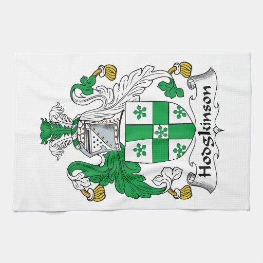Escudo de la familia de Hodgkinson Toallas De Mano