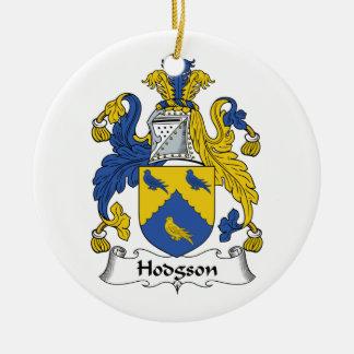 Escudo de la familia de Hodgson Adorno Navideño Redondo De Cerámica