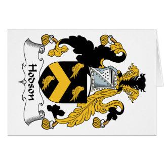 Escudo de la familia de Hodson Felicitación