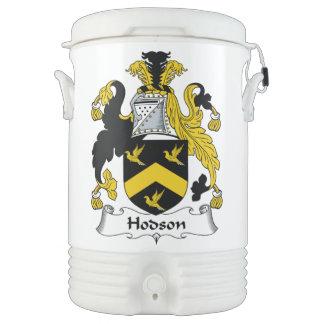 Escudo de la familia de Hodson Vaso Enfriador Igloo