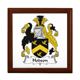 Escudo de la familia de Hodson Joyero Cuadrado Grande