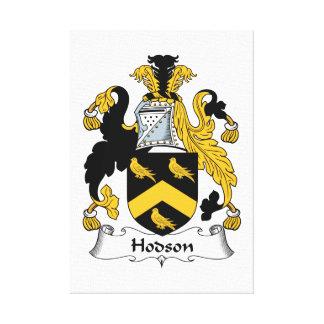Escudo de la familia de Hodson Lona Envuelta Para Galerías