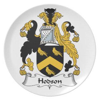 Escudo de la familia de Hodson Plato Para Fiesta