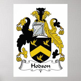 Escudo de la familia de Hodson Posters