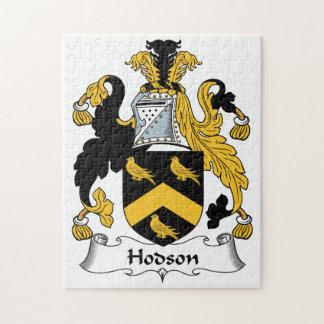 Escudo de la familia de Hodson Rompecabeza Con Fotos