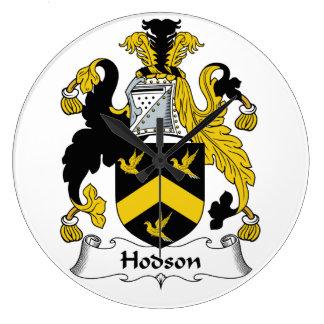 Escudo de la familia de Hodson Reloj De Pared