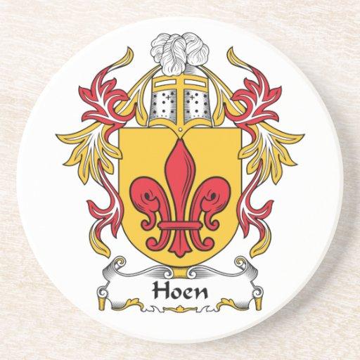 Escudo de la familia de Hoen Posavasos Personalizados