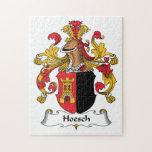 Escudo de la familia de Hoesch Rompecabezas Con Fotos
