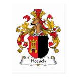 Escudo de la familia de Hoesch Tarjeta Postal