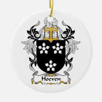Escudo de la familia de Hoeven Ornamento Para Arbol De Navidad