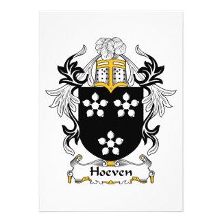 Escudo de la familia de Hoeven Comunicado Personalizado