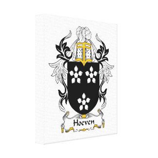 Escudo de la familia de Hoeven Impresion De Lienzo