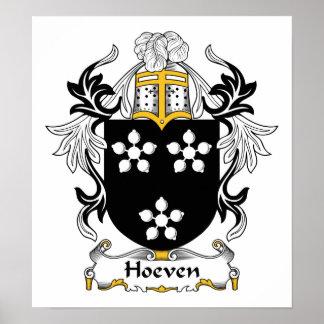Escudo de la familia de Hoeven Posters
