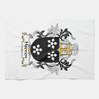 Escudo de la familia de Hoeven Toallas De Cocina