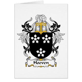 Escudo de la familia de Hoeven Tarjetas