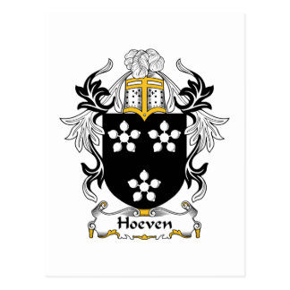Escudo de la familia de Hoeven Postales