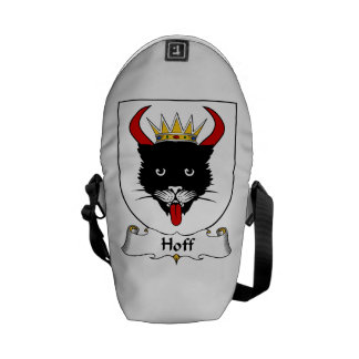 Escudo de la familia de Hoff Bolsas De Mensajería