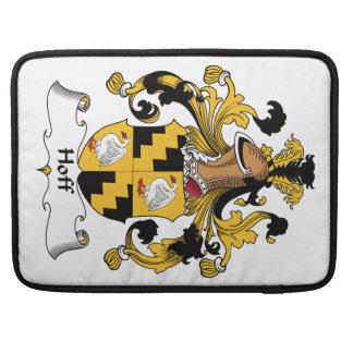 Escudo de la familia de Hoff Fundas Para Macbook Pro