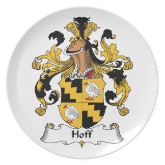 Escudo de la familia de Hoff Plato De Comida