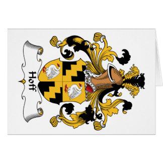 Escudo de la familia de Hoff Tarjetas