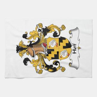 Escudo de la familia de Hoff Toalla De Mano