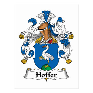 Escudo de la familia de Hoffer Postales