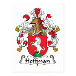 Escudo de la familia de Hoffman Tarjeta Postal