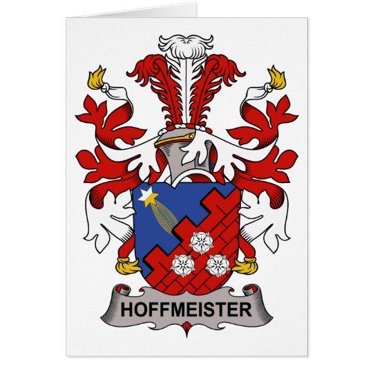 Escudo de la familia de Hoffmeister Tarjeta De Felicitación