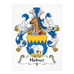 Escudo de la familia de Hofner Invitacion Personal