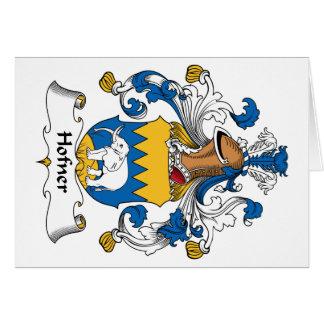 Escudo de la familia de Hofner Tarjeta De Felicitación