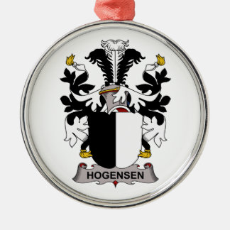 Escudo de la familia de Hogensen Ornamento Para Arbol De Navidad