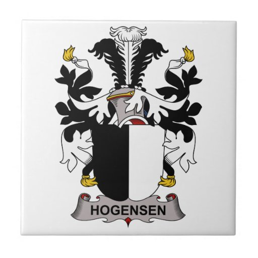 Escudo de la familia de Hogensen Tejas Ceramicas