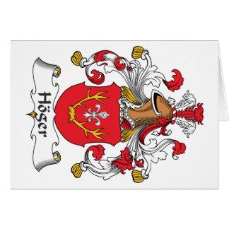 Escudo de la familia de Hoger Tarjeta De Felicitación