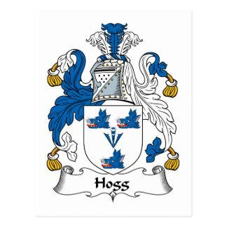 Escudo de la familia de Hogg Postal
