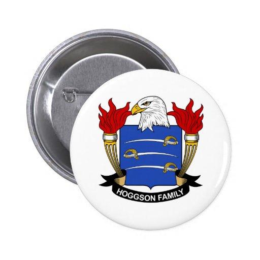 Escudo de la familia de Hoggson Pin Redondo 5 Cm
